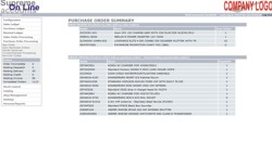 on line accounting system. Purchase order processing dashboard