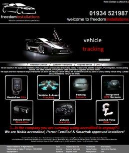 One of our website designs - freedom installations home page