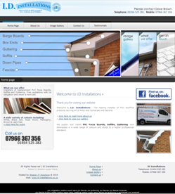 One of our website designs - ID Installations