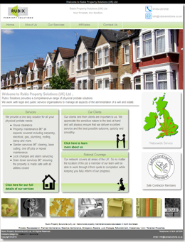 One of our website designs - Rubix Solutions home page